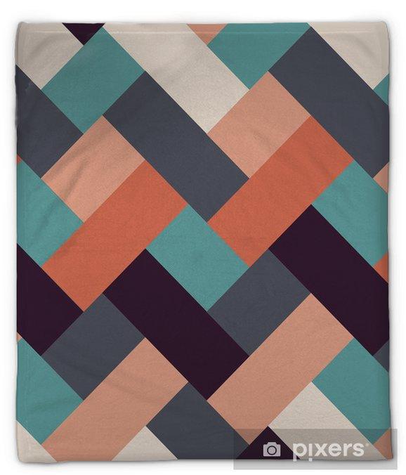 Koc pluszowy Styl retro abstrakcyjne tło paski - Tła