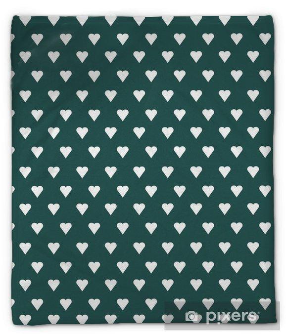 Koc pluszowy Wektor bez szwu deseń z białego serca na tle pastelowych - Zasoby graficzne