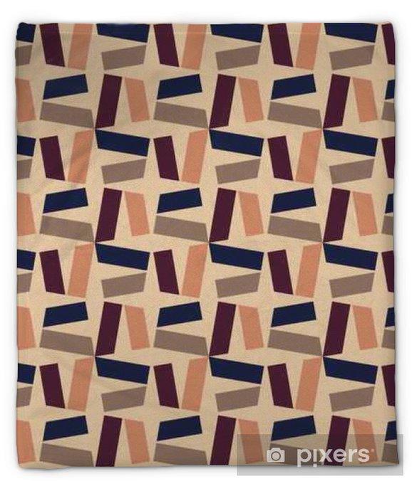 Koc pluszowy Wektor bez szwu kolorowy wzór nowoczesnej geometrii, kolor abstrakcyjne geometryczne tło, poduszka wielobarwny druk, retro tekstury, projektowanie mody hipster - Zasoby graficzne