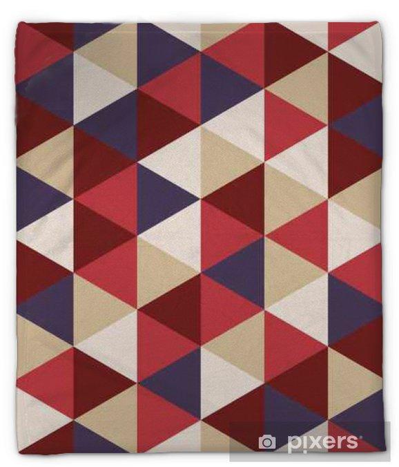 Koc pluszowy Wektor kolorowy nowoczesny szwu geometrii trójkąta, kolor abstrakcyjne geometryczne tło, poduszka wielobarwny druk, retro tekstury, projektowanie mody hipster - Zasoby graficzne