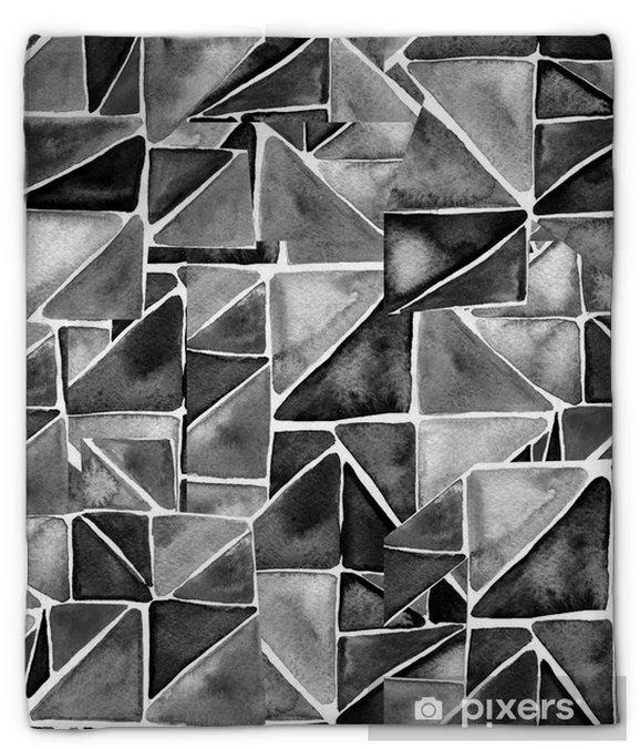 Koc pluszowy Wzór akwarela trójkąty. nowoczesny wzór. czarno-białe tekstury w szablonie geometrii. wzór grunge. retro trójkąt tło. - Zasoby graficzne