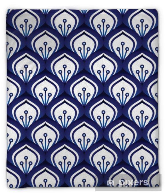 Koc pluszowy Wzór porcelany bez szwu - Zasoby graficzne