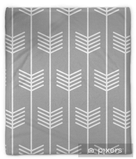 Manta de felpa Diseño de estilo escandinavo sin fisuras de patrón de flecha. vector - Recursos gráficos