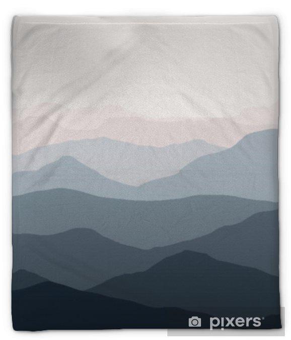 Manta de felpa Hermoso paisaje de montañas. fondo de la naturaleza. ilustración vectorial para telones de fondo, pancartas, grabados, carteles, murales y diseño de papel tapiz. - Paisajes