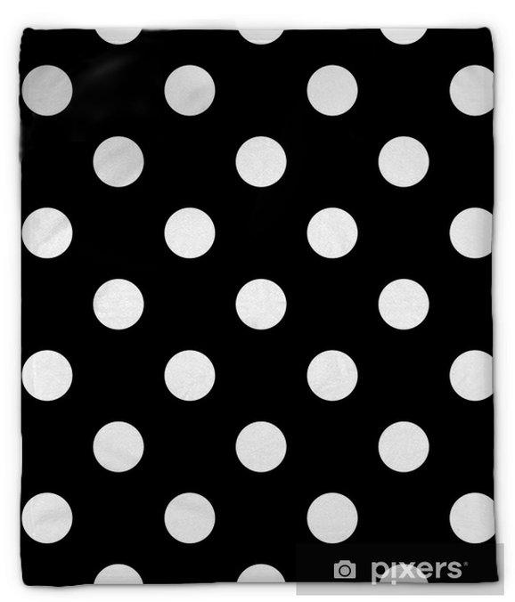 Manta de felpa Lunares sin costura en blanco y negro - Recursos gráficos