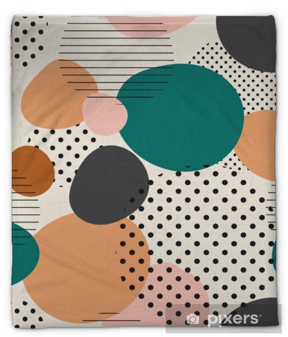 Manta de felpa Modelo inconsútil de moda de formas geométricas y garabatos. patrón de colores estilo memphis - Recursos gráficos