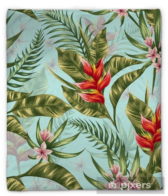 Manta de felpa Patrón floral sin fisuras - Plantas y flores