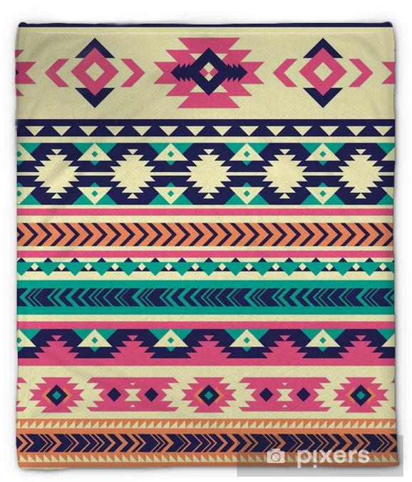 Manta de felpa Patrón transparente de vector tribal. impresión de arte geométrico abstracto azteca. fondo del vector fondos de pantalla, diseño de tela, tela, papel, cubierta, plantilla textil - Recursos gráficos