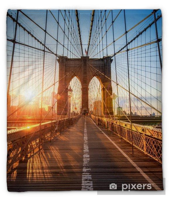 Manta de felpa Puente de brooklyn en Nueva York, Estados Unidos - Viajes