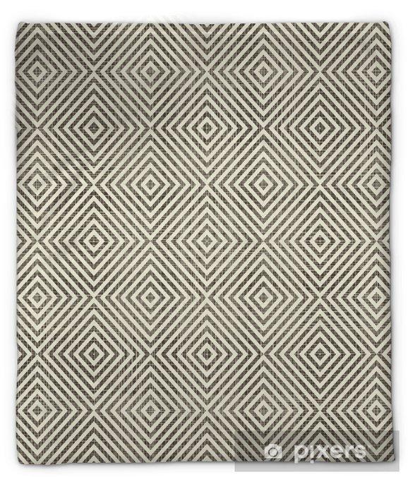 Pluche deken Abstracte geometrische retro naadloze achtergrond - Achtergrond