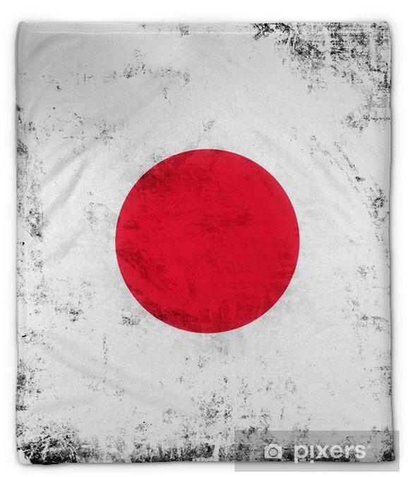 Pluche deken Japan grunge vlag achtergrond van Aziatisch land - Grafische Bronnen