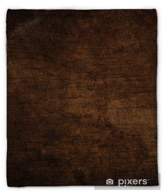 Pluche deken Oude grunge donkere gestructureerde houten achtergrond, het oppervlak van de oude bruine houtstructuur - Grafische Bronnen