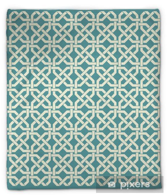 Pluche deken Retro geometrische naadloze patroon - Achtergrond