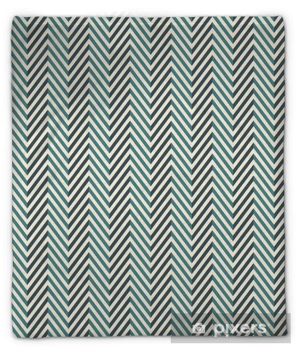 Pluche deken Visgraat abstracte achtergrond. blauwe kleuren naadloze patroon met chevron diagonale lijnen. - Grafische Bronnen