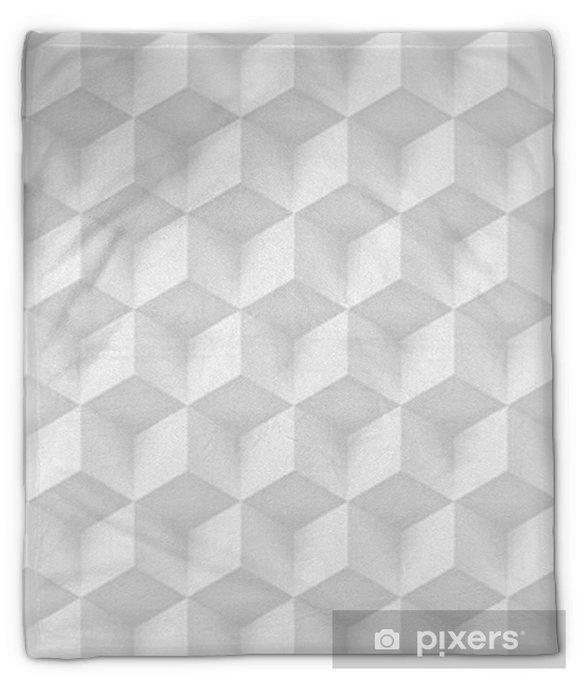 Pluche deken Volume realistische textuur, grijze kubussen, 3D-geometrische patroon, ontwerp vector lichte achtergrond - Grafische Bronnen