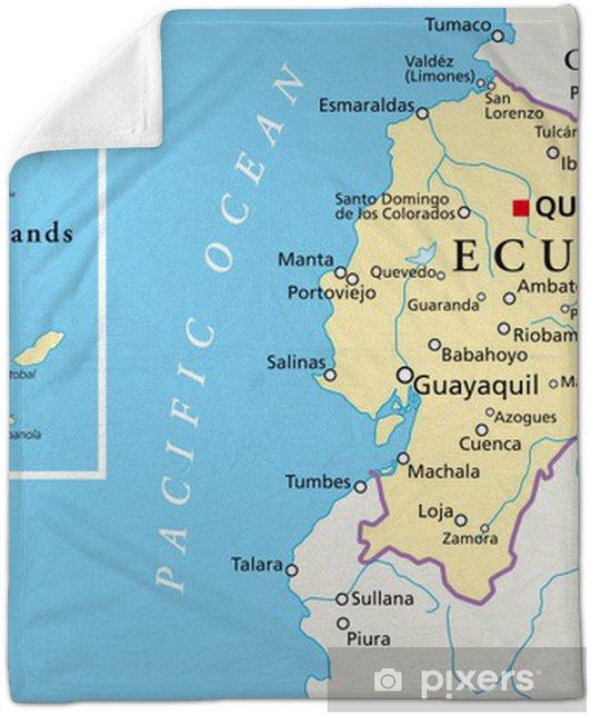 Ecuador and Galapagos Islands - Map Plush Blanket on caribbean map, maldives map, central america map, genovesa island, luxembourg map, pinta island, honduras map, puerto ayora map, madagascar map, nameless island, bahamas map, africa map, puerto ayora, bay of fundy, atacama map, ha long bay, baltra island, isabela island, peru map, fernandina island, puerto baquerizo moreno, galapagos national park, tierra del fuego on map, charles darwin research station, netherlands antilles map, greater antilles map, iguazu falls, ethiopia map, cocos islands, strait of magellan map, europe map, dominican republic map, aleutian islands map, iceland islands map,