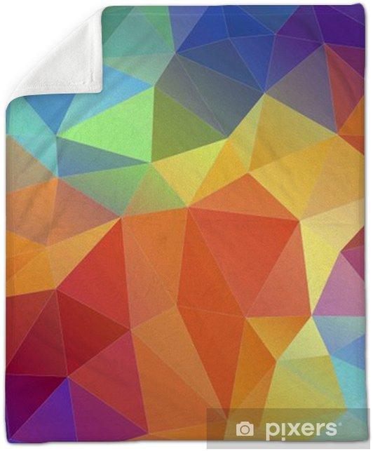 Flat Triangle Multicolor Geometric Triangle Wallpaper Plush Blanket