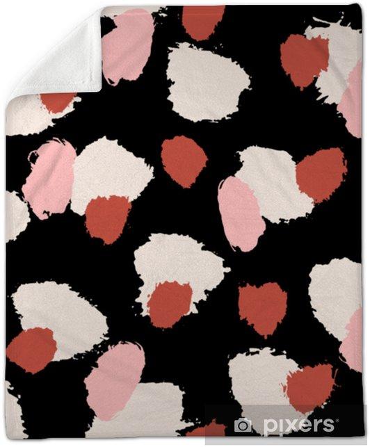 Hand Drawn Brush Strokes Seamless Pattern Plush Blanket - Graphic Resources