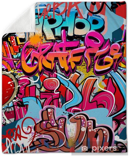hip hop graffiti urban art background plush blanket