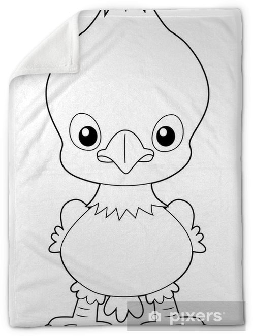 illustration of Cartoon eagle outline Plush Blanket