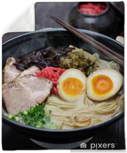 japanese tonkotsu ramen, pork bone broth noodles Plush Blanket