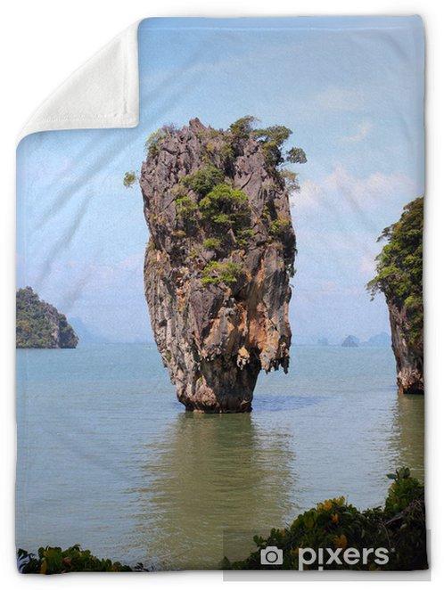 Phang Nga Bay James Bond Island Thailand Plush Blanket