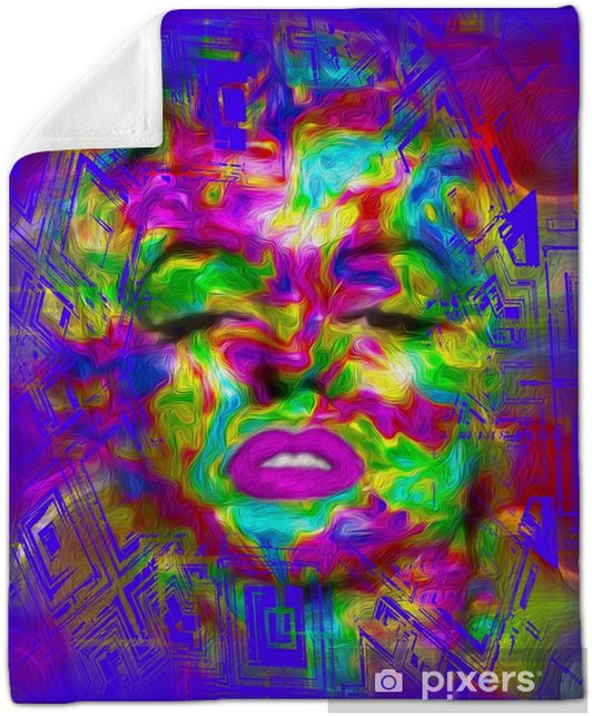 Pop Culture is one of our unique, colorful abstract digital art images of a classic blonde bombshell in the likes of a Marilyn pop art style. Plush Blanket - Hobbies and Leisure