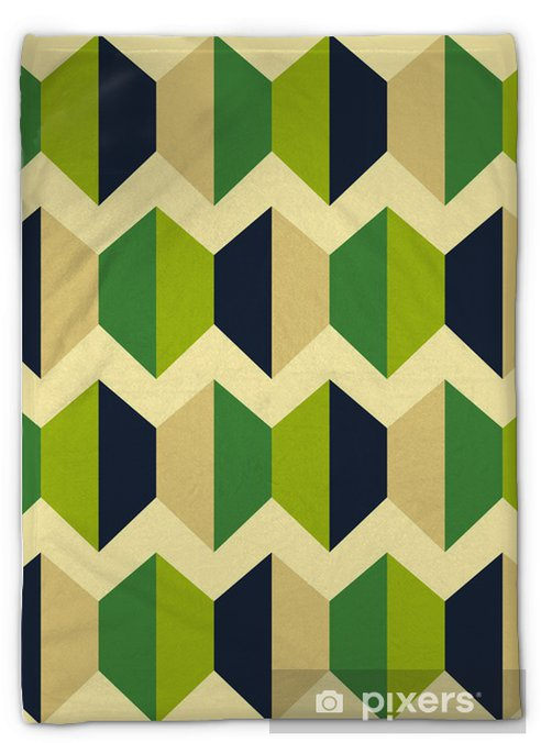 Retro abstract seamless pattern Plush Blanket - Abstract