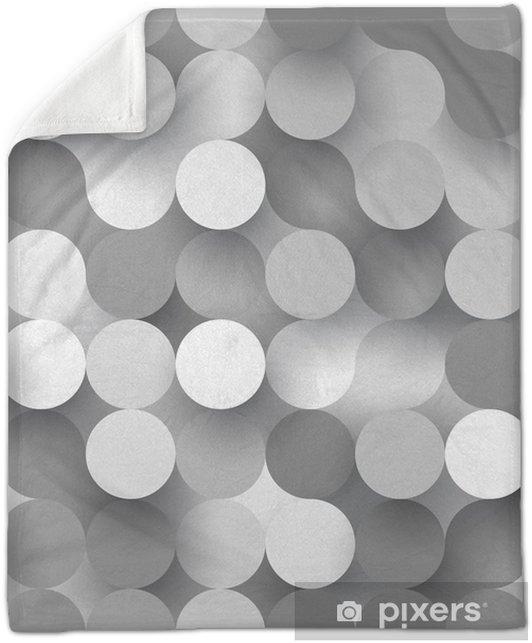 Seamless flat circles Plush Blanket - Graphic Resources