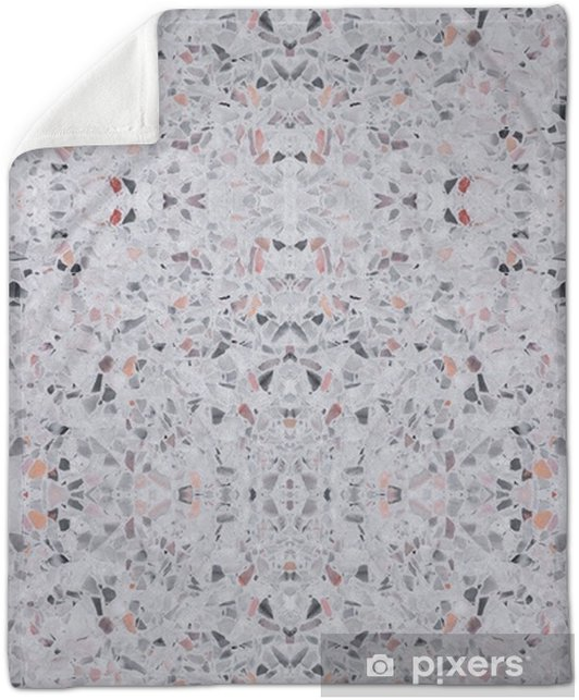 Terrazzo Flooring Old Texture Or Polished Stone Pattern Seamless Design For Background And Color Beautiful Plush Blanket