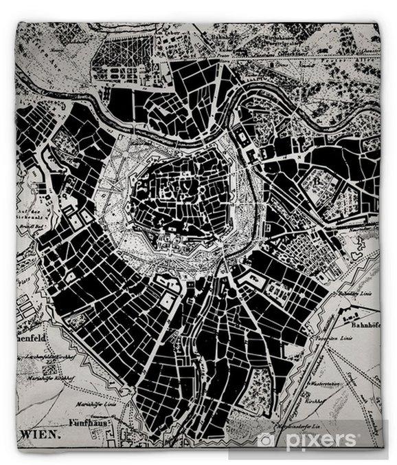Plyshfilt Historisk karta över Wien, Österrike. - Teman