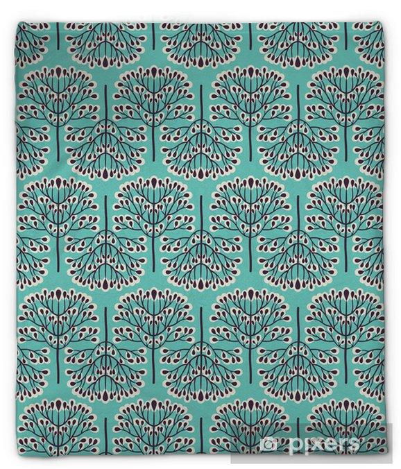 Plyšová deka Seamless pattern lesní -