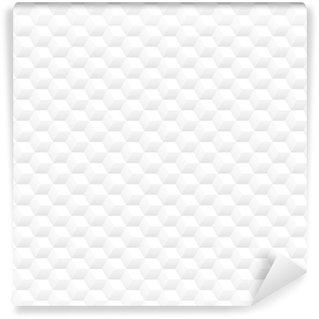 Abwaschbare Tapete nach Maß Minimalistische saubere weiße 3d Würfel Vektor nahtlose Hintergrundmuster design