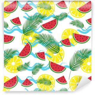 Abwaschbare Tapete nach Maß Sommer frisches Muster