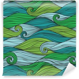 Vektor nahtlose Muster mit abstrakten Wellen