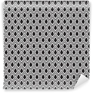 Abstract Naadloos Zwart-wit Art Deco Vector Pattern