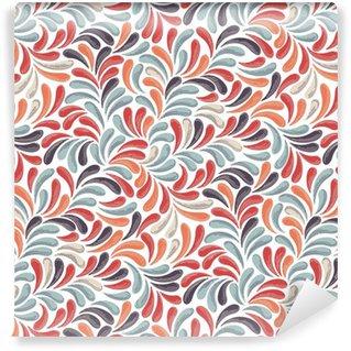 Afwasbaar behang, op maat gemaakt Abstracte kleurrijke patroon