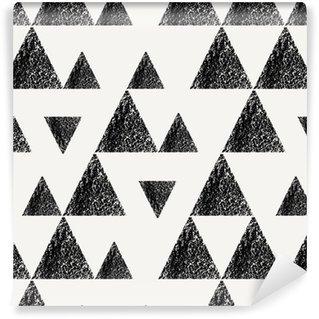 Afwasbaar behang, op maat gemaakt Driehoeken naadloze patroon
