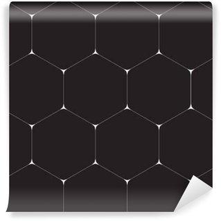 Afwasbaar behang, op maat gemaakt Geometrische achtergrond, zeshoeken. Line design. Vector illustratie EPS 10