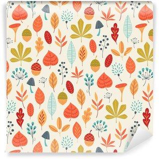Afwasbaar behang, op maat gemaakt Herfstkleuren patroon