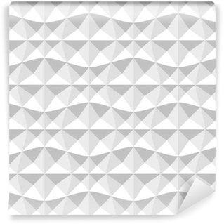 Afwasbaar behang, op maat gemaakt Naadloze 3d geometrisch patroon.