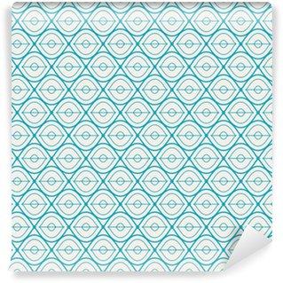 Afwasbaar behang, op maat gemaakt Naadloze geometrische patroon