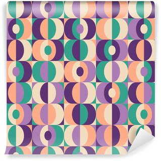 Afwasbaar behang, op maat gemaakt Naadloze vintage geometrisch patroon