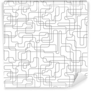 Afwasbaar behang, op maat gemaakt Network naadloze achtergrond