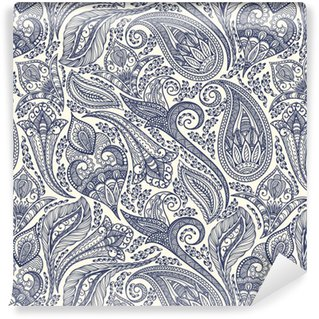 Afwasbaar behang, op maat gemaakt Paisley patroon