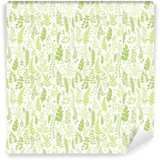 Afwasbaar behang, op maat gemaakt Patroon met bladeren