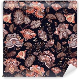 Afwasbaar behang, op maat gemaakt Vintage naadloze patroon. Bloemen achtergrond in Provençaalse stijl.