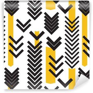 Vinyl behang, op maat gemaakt Geometrie naadloze patroon