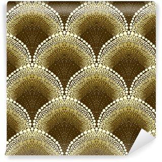 Vinyl behang, op maat gemaakt Gestippeld geometrisch patroon in art decostijl