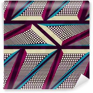 Vinyl behang, op maat gemaakt Grunge gekleurde graffiti naadloze patroon